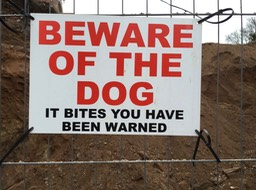 Beware of the dog 3063