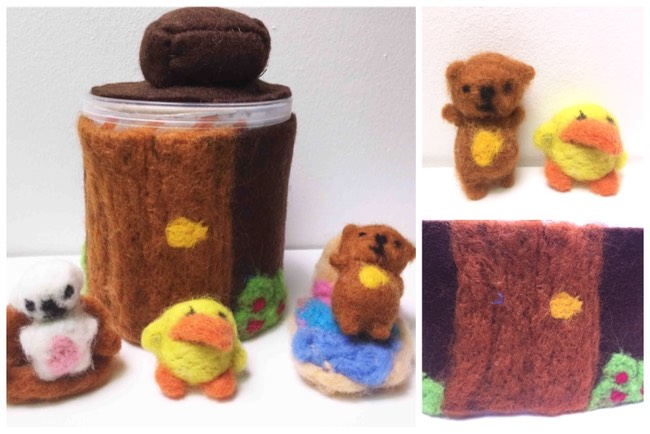 felted dolls house