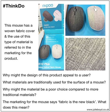 Ls Fabric covered mouse